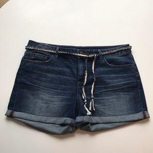 Lauren Conrad Jean Shorts with Belt Size 12